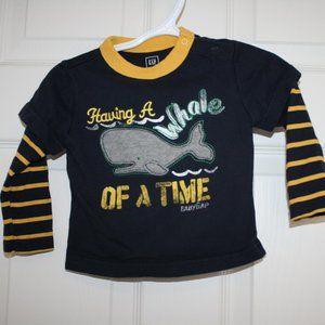 2/$20 Toddler boy nautical shirt 18 months